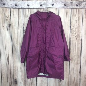VTG L.L. Bean Purple Stowaway Raincoat and Hoodie